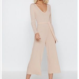 NWOT Nasty Gal Just Busy RN Pink Lounge Jumpsuit